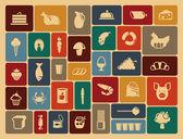 Iconos de comida — Vector de stock