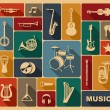 Silhouettes of musical instruments — Stock Vector #46491891