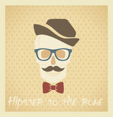 Hipster to the bone — Stock Vector