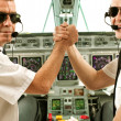 Airline pilots - Stock Photo