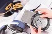 Airplane pilot equipment — Stock Photo
