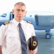 Airline pilot at the airport — Stock Photo #21517351
