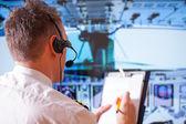 Pilot linii lotniczych — Zdjęcie stockowe