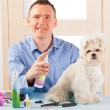 Dog grooming - Stock Photo