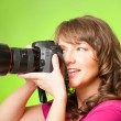 Photographer with camera — Foto Stock