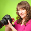 Photographer with camera — Stock Photo