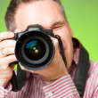 Photographer with camera — Foto de Stock