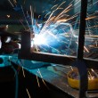 Welding metal — Stock Photo
