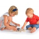 Kids playing chess — Stock Photo