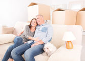 Couple at new home — Stock Photo