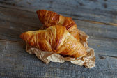 French croissants Crescents — Stock Photo