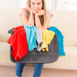Young girl preparing her luggage — Foto de Stock   #41332589