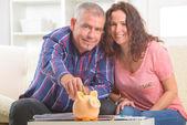 Para oszczędzania pieniędzy — Zdjęcie stockowe