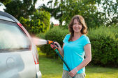 Ecological car wash — Stock Photo