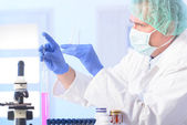 Scientist in lab — Stock Photo