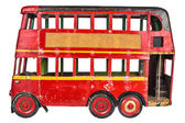 Vintage London bus toy — Stock Photo