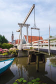 Bridge in village Edam — Stock Photo