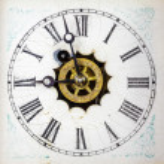 Vintage clock face — Stock Photo