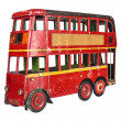 London bus toy — Stock Photo