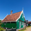 Green Dutch house — Stock Photo
