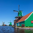 Dutch wooden windmills — Stock Photo