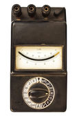 Vintage black volt meter — Stock Photo