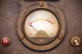 Vintage dusty volt meter — Stock Photo
