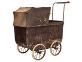 Nineteenth century baby pram — Stock Photo