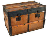 Ancient wooden chest — Stock Photo