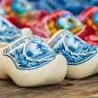 Different styled Dutch wooden clogs — Stock Photo