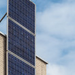 Stock Photo: Vertical solar panels