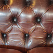 Brown leather sofa — Stock Photo