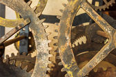 Vintage rusted gearwheels — Stock Photo