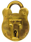 Antique brass padlock — ストック写真