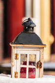 Decorative wooden lantern — Foto de Stock