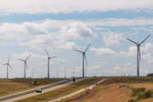 Row of windturbines — Stock Photo