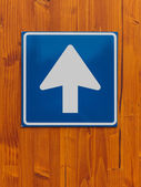 One way traffic sign — Stockfoto