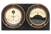 Double ampere meter — Stock Photo