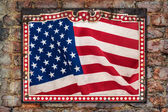 Weathered US flag — Stock Photo
