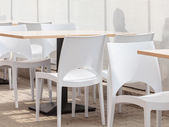 Canteen with chairs — Stock Photo