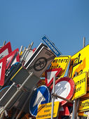Dutch traffic signs — Stok fotoğraf