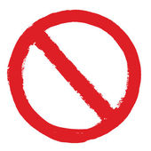 Niet toegestaan teken grunge — Stockvector