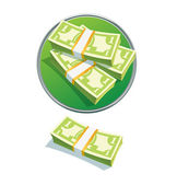 Pila de un dólar — Foto de Stock