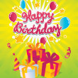 Happy Birthday vector card — Stock Vector #13656715