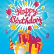 Happy Birthday vector card — Stock Vector