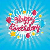 Happy Birthday Banner — Stock Vector