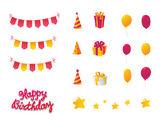 Birthday Celebration Set — Stock Vector