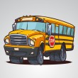 Cartoon school bus — Stockvektor