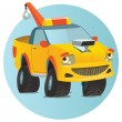 Stock Vector: Wrecker car character