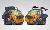 Cartoon truck tipper — Stock Vector